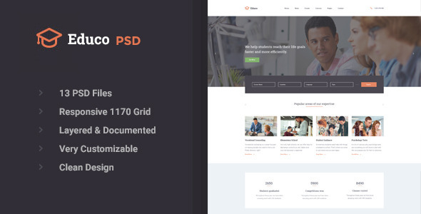 Educo – Educational PSD Template (Business) Download
