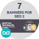 Flat Concept Banners for SEO 2