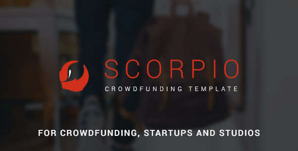 Scorpio: Crowdfunding and Startup PSD Theme (Marketing) Download