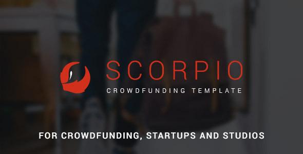 Scorpio: Crowdfunding and Startup PSD Theme (Marketing) Download