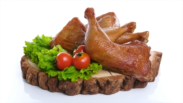 Eatable Whole Grilled Chicken Served With