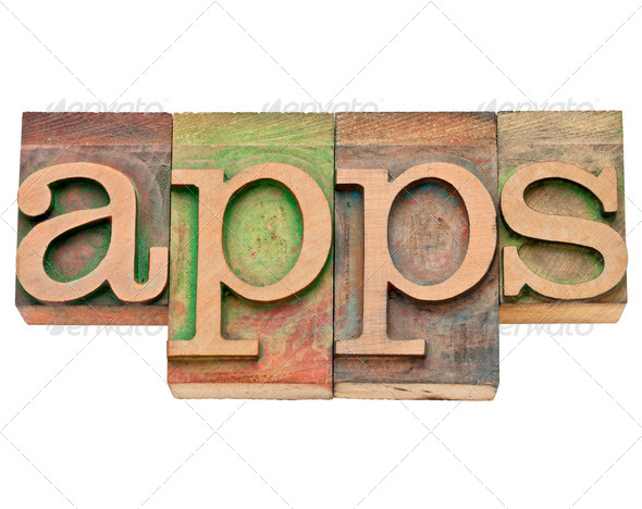 apps - software for mobile devices - Stock Photo - Images