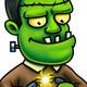 Frankenstein Cartoon Character Digital Painting