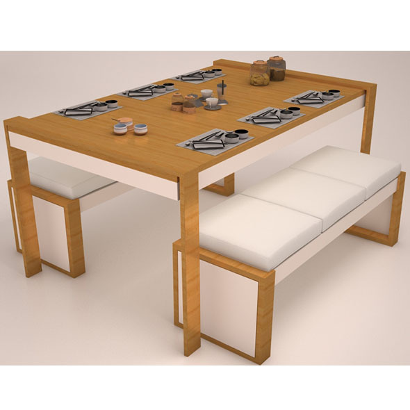 Dining set 2 - 3DOcean Item for Sale