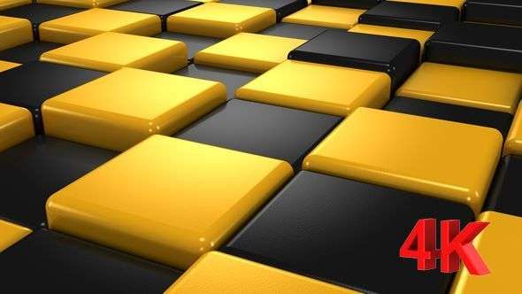 Yellow and Black Cubes Animation
