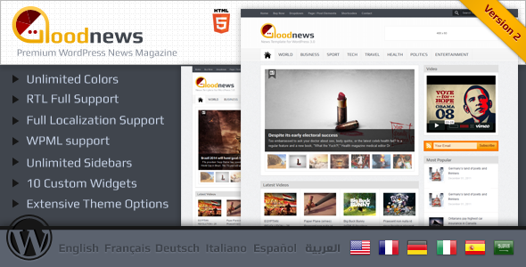 Goodnews – Premium WordPress News/Magazine - ThemeForest Item for Sale