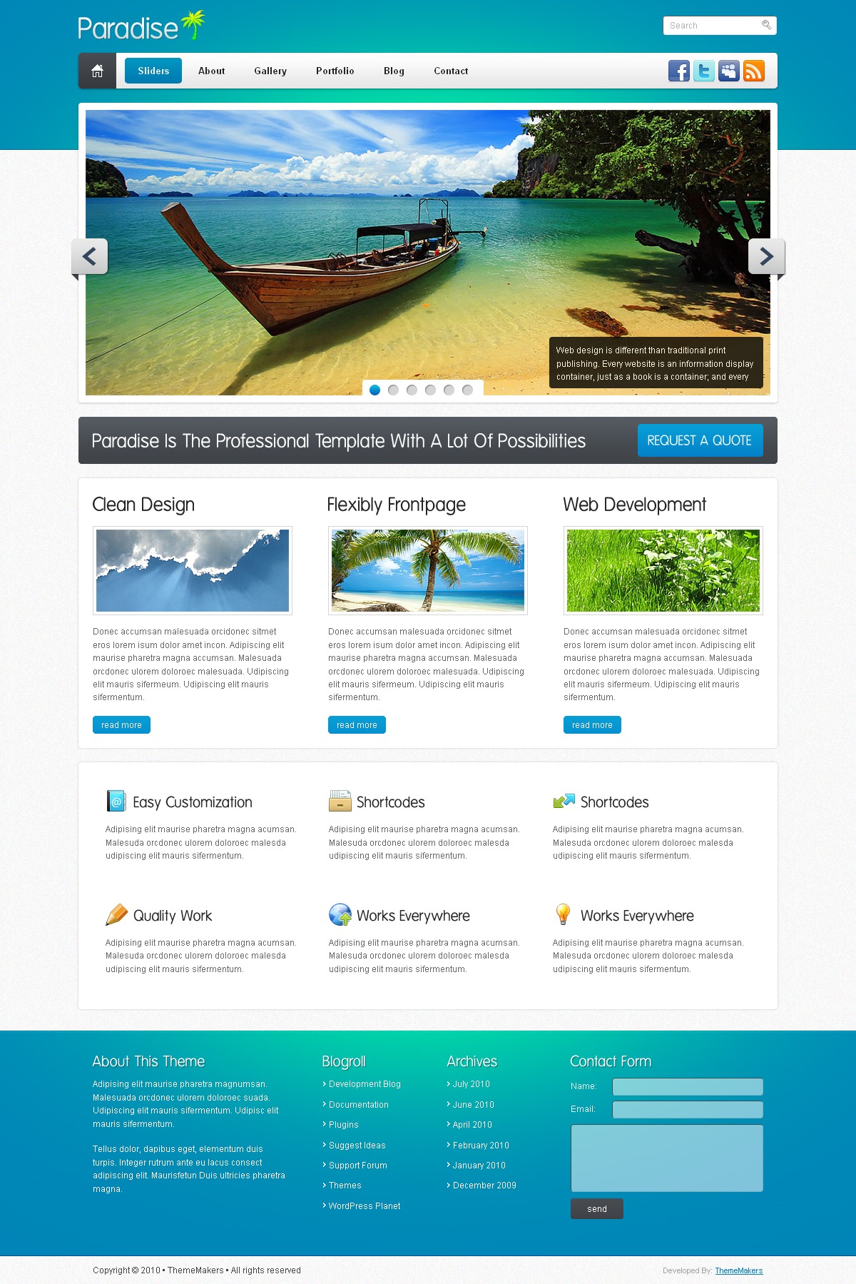 Paradise Professional xHTML Template