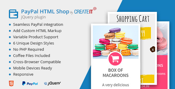 jQuery Paypal HTML Shop (Shopping Carts) Download