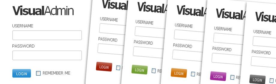 Visual Admin - Login Screens for all 6 Themes