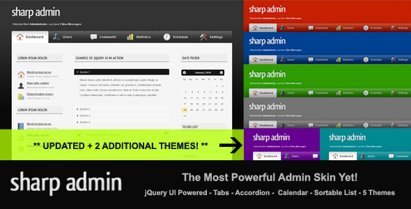 ThemeForest Sharp Admin Template 83085