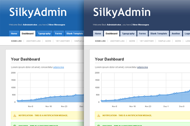 Silky Admin - Blue & Dark Blue Themes