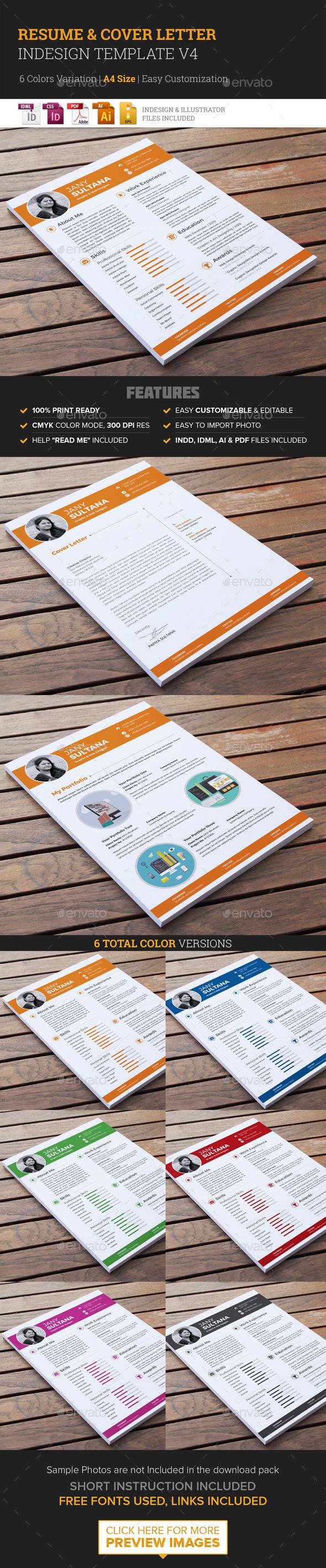 Resume & Cover Letter Template v4