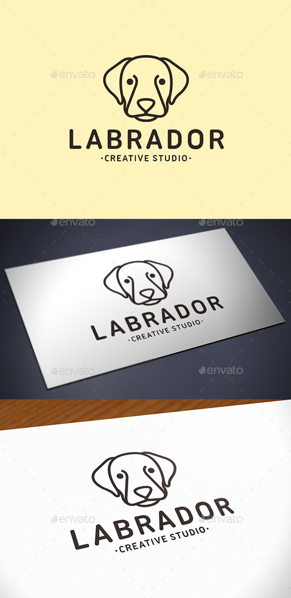 Labrador Dog Logo Template