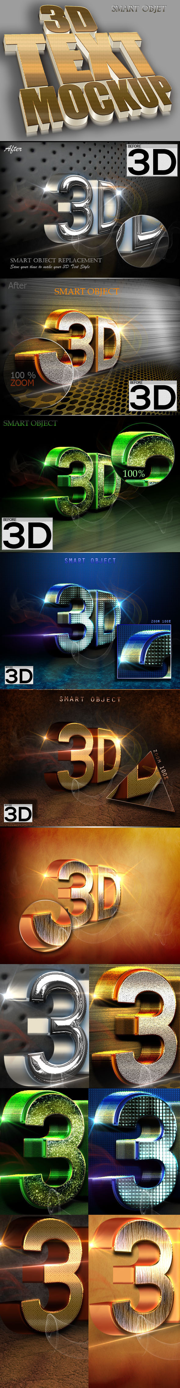3D Text Style V.52