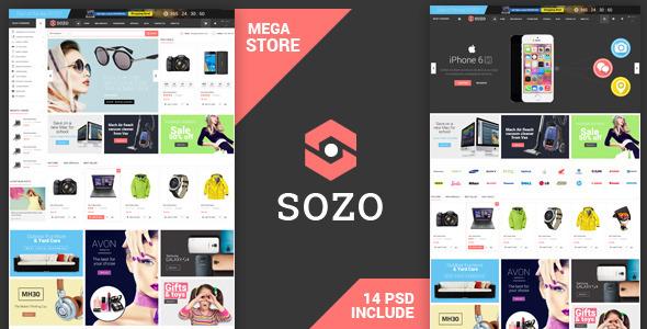 Sozo - Shopping PSD Template