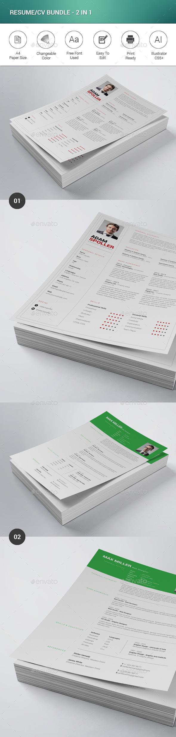 Resume/CV Bundle - 2 in 1
