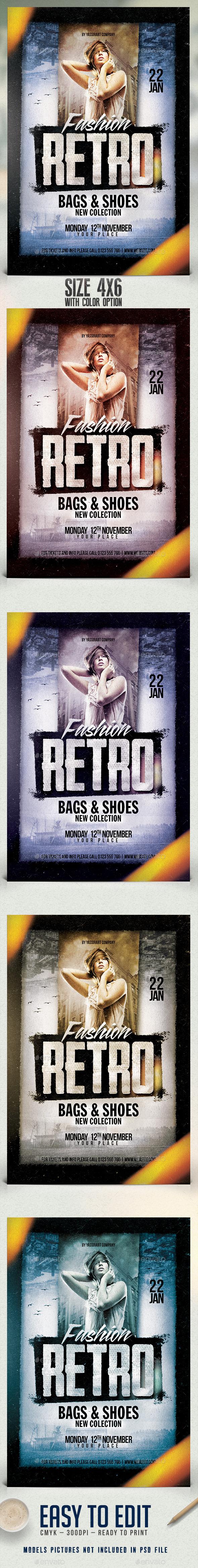 Fashion Retro Flyer Template