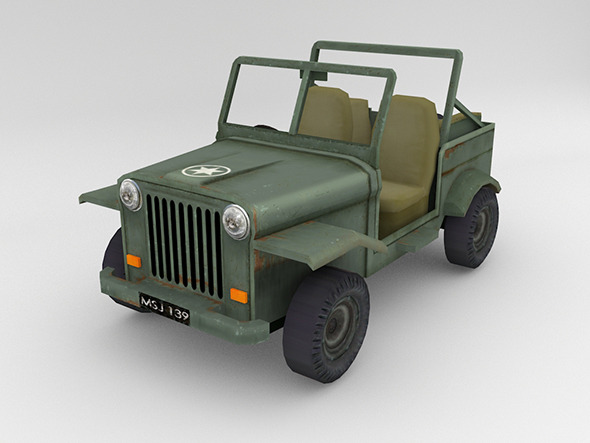 3DOcean Army Jeep 12055634