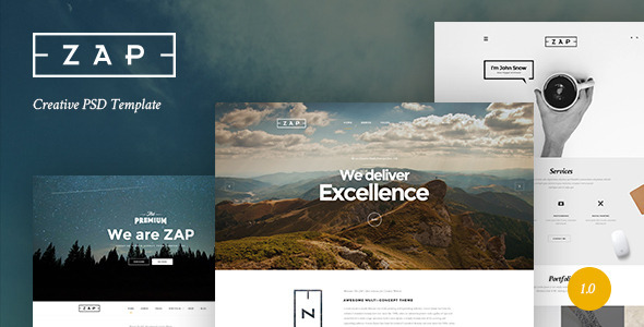 ZAP – Creative PSD Template (Creative) Download