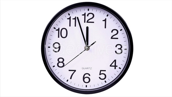 Clock on a White 00 Hours
