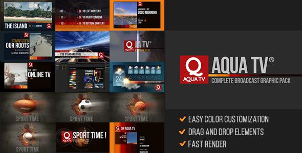 Aqua TV Broadcast Graphic Package