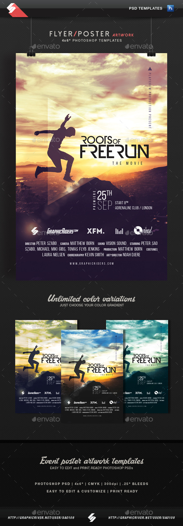 Freerun Movie - Flyer / Poster Template
