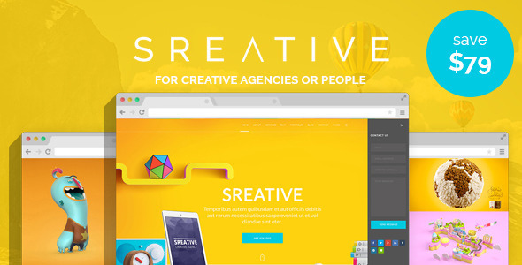 Sreative | Digital Agency WordPress Theme