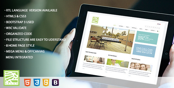 Decor - HTML5 Versatile Template