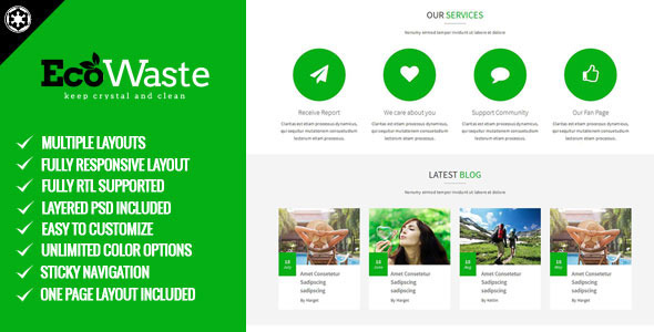 EcoWaste - Environmental HTML5 Theme