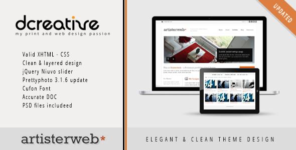 Artister - XHTML Portfolio, Agency Clean Theme