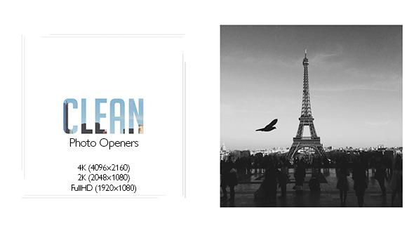 Clean Photo Openers Logo Reveal