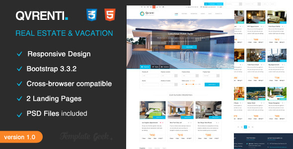Qvrenti - Responsive Real Estate HTML5 Template