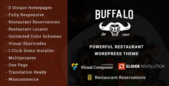 Buffalo - Cafe & Restaurant WordPress Theme