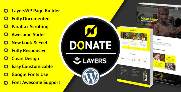 Donate - Charity Nonprofit WordPress Theme For Fundraising