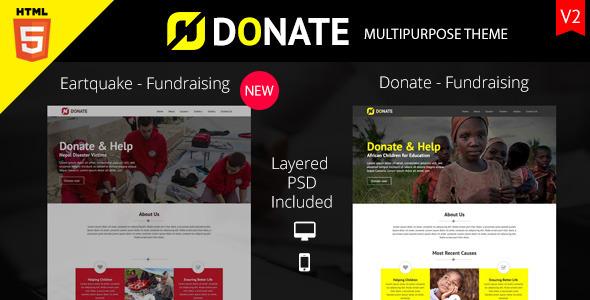 Donate - Multipurpose Nonprofit HTML Site Template