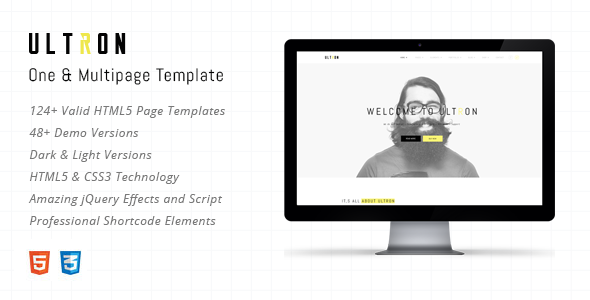Ultron – Responsive One & Multi Page HTML Template (Portfolio) Download