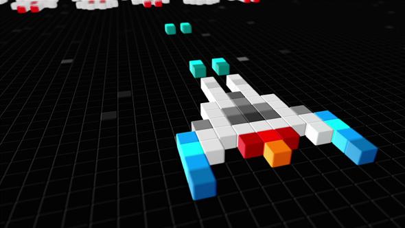 Logo Reveal Arcade Pixels Shoot Em Up'