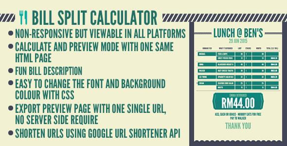 Bill Split Calculator (Miscellaneous) Download