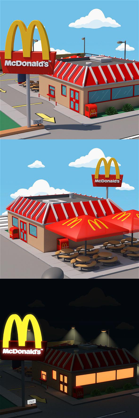 McDonald's restaurant - 3DOcean Item for Sale