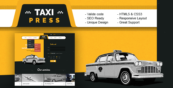 TaxiPress – Taxi Company HTML5 Template (Business) Download