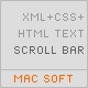 Advanced Scroll Bar with HTML text from XML with CSS - ActiveDen Item for Sale