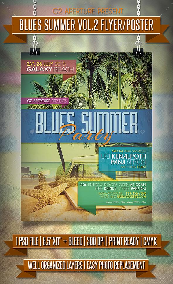 Blues Summer Flyer / Poster Vol.2