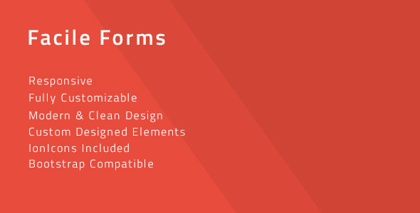 CodeCanyon Facile Forms Multipurpose Modern CSS Forms 12045097