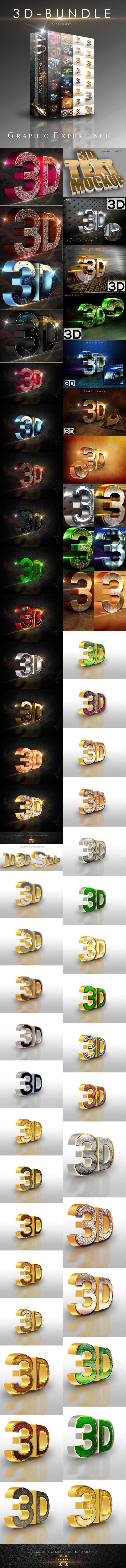 40 Bundle 3D Text Style