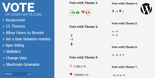 Vote Up Down WordPress Plugin (Utilities) Download