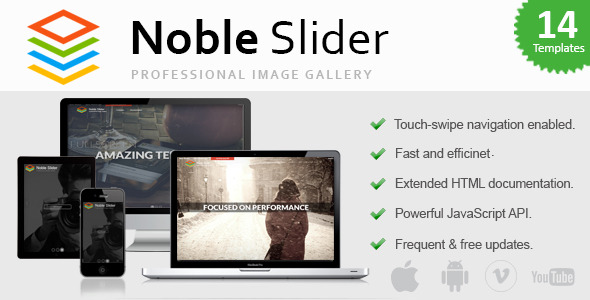 Noble Slider – Professional jQuery Image Gallery (Sliders) Download