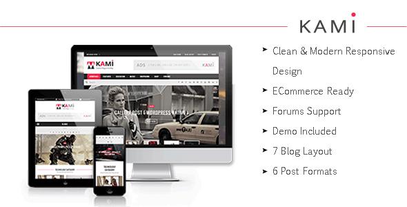 KAMI - Creative Magazine and Blog Theme