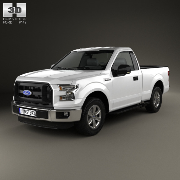 3DOcean Ford F-150 Regular Cab XL 2014 12087687
