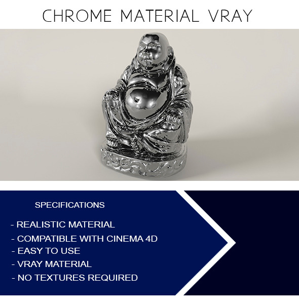3DOcean Chrome Material VRay 12088093