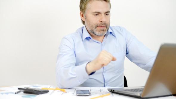 Businessman Working Online